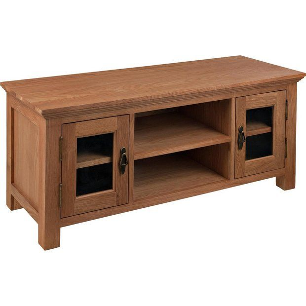 Buy Collection Knightsbridge Large Oak & Oak Veneer TV Unit at Argos.co.uk - Your Online Shop for Entertainment units and cabinets, Living room furniture, Home and garden.