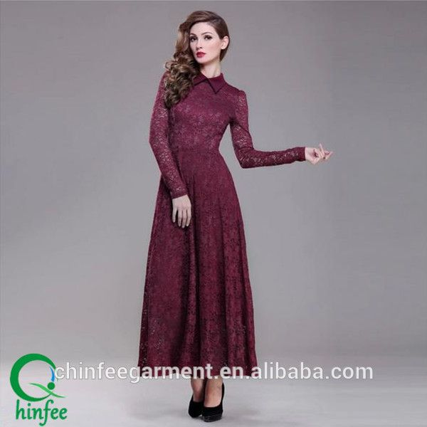 D029 Long Sleeve Mother of the Bride Lace Dress