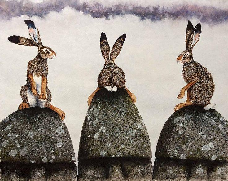 """Maggie Vandewalle Watercolors Easter Island 11"""" x 13"""""""