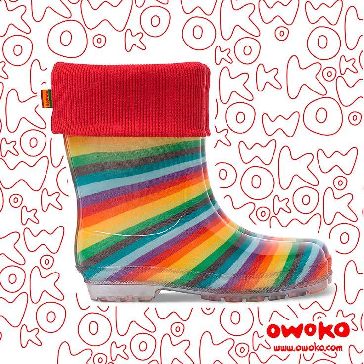 Botas de lluvia Owoko. Talles: 18 al 32.