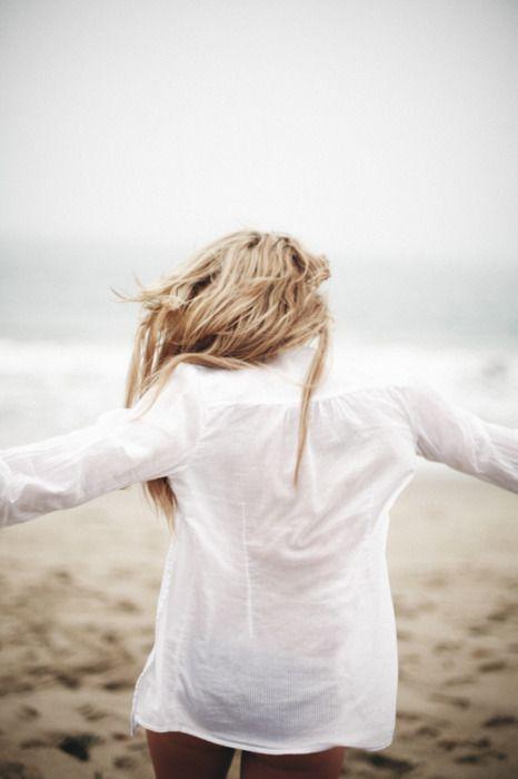 beach: At The Beaches, Beaches Hair, Fashion Models, The Ocean, White Shirts, Men Shirts, Victoria Secret, Classic White, Beaches Style