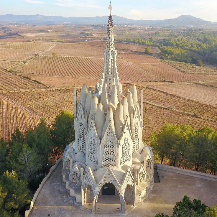 "379 Likes, 18 Comments - @milghauss on Instagram: ""Santuari de la Mare de Déu de Montserrat a Montferri, 1926-1931. Surrounded by vineyards, this…"""