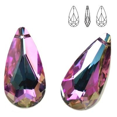 6100 Teardrop 24mm Vitrail Light  Dimensions: 24,0x12,0 mm Colour: Vitrail Light 1 package = 1 piece