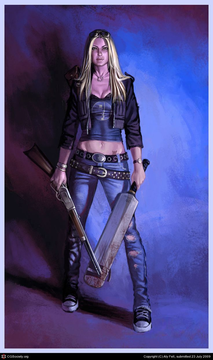Erica: Zombie Slayer By Aly Fell  2d  Cgsociety