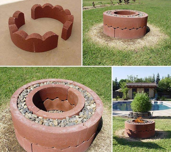 Diy fire pit for the outside pinterest fire pits for Do it yourself fire pit designs