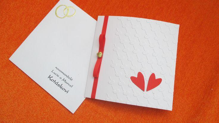Svatební přání s obálkou