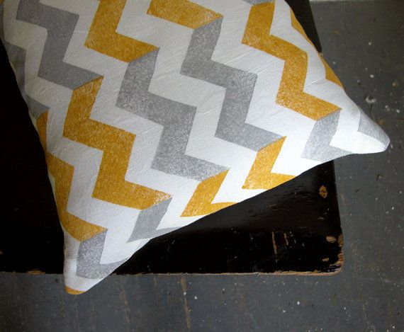 chevron + grey + yellow = gotta have it in my living room now. (the etsy seller has some other awesome prints too)