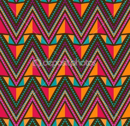 Бесшовные этнических абстрактный узор вектор — Стоковое векторное изображение © makarova.alex #6449361