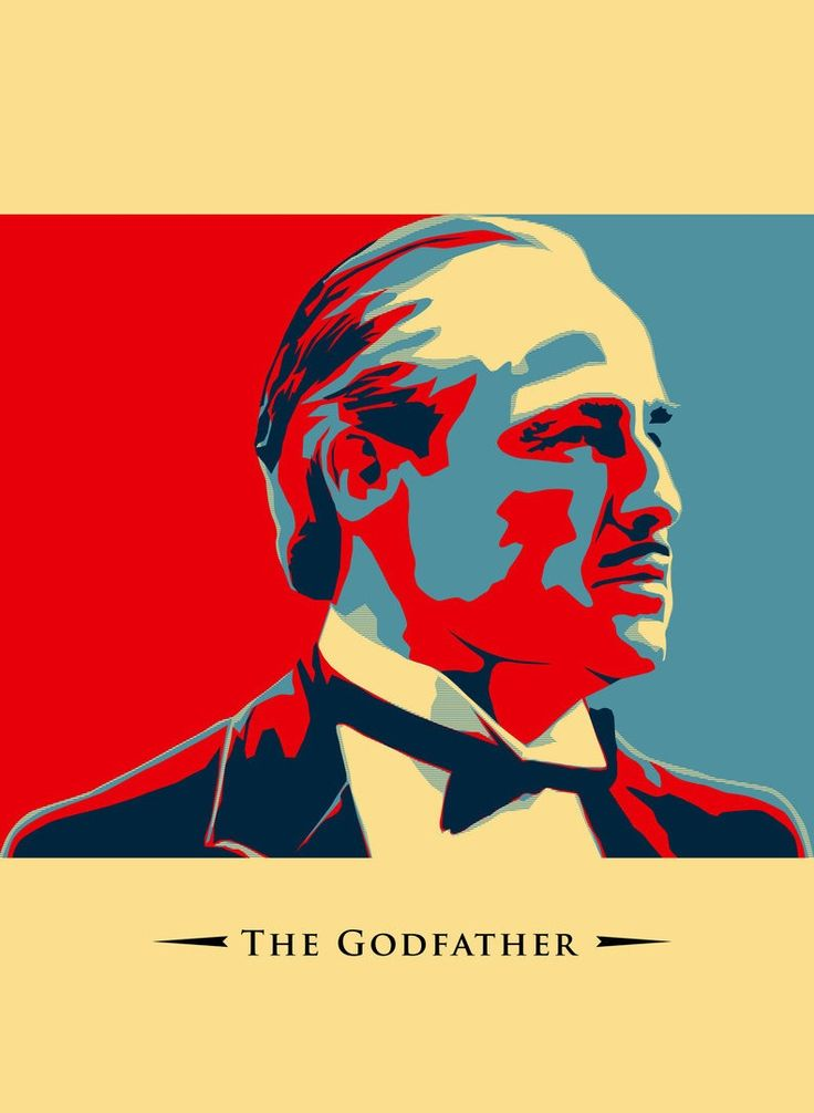 The Godfather - Don Vito Corleone as pop art #GangsterMovie #GangsterFlick