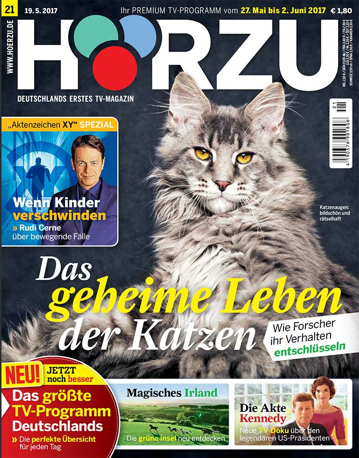 Hörzu 21/2017; photo of the cat: Robert Sijka