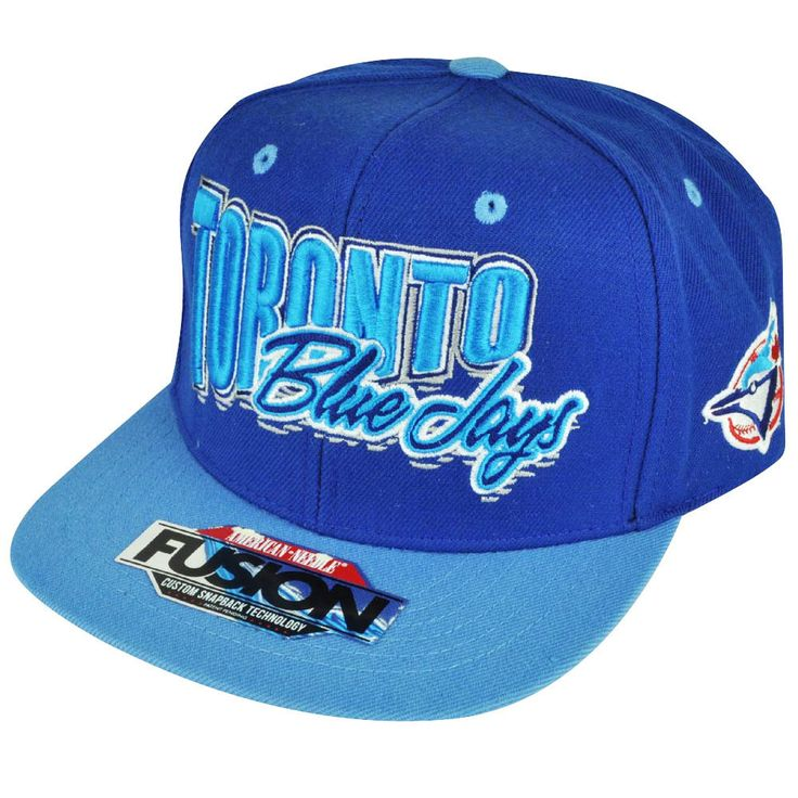 #MLB American Needle Toronto Blue Jays Snapback Flat Bill Hat Cap Adjustable from $22.95