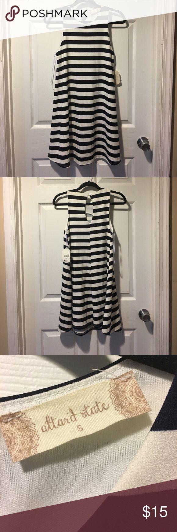 Altar'd State striped mini dress Blue and white striped mini dress. Size small Altar'd State Dresses Mini
