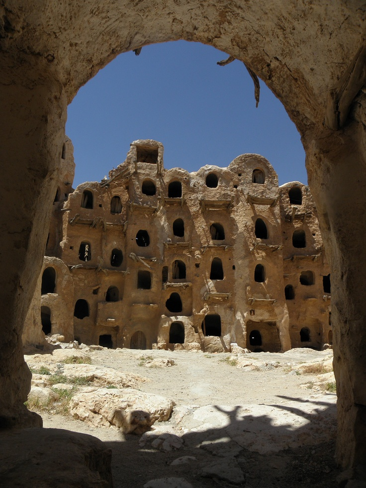 Africa | Sights and Sounds. Kabaw, Libya. http://reversehomesickness.com/africa/ksar-tunisia/ #starwars #tunisia