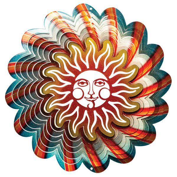 Iron Prestať Usmievať Slnko Visí Metal Wind Spinner Garden Yard Stern  Vnútorný Vonkajší U2022 £ 11