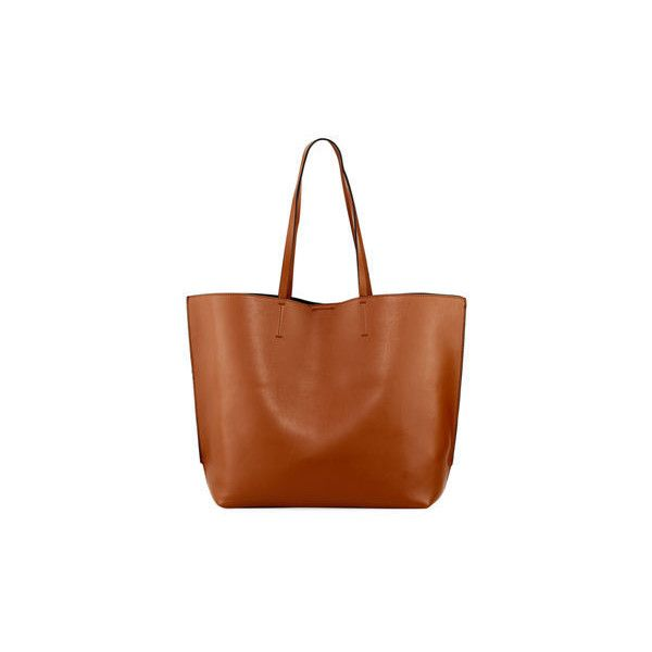 French Connection James Simple Smooth Tote Bag ($75) ❤ liked on Polyvore featuring bags, handbags, tote bags, brown, brown tote handbags, tote handbags, brown tote, tote bag purse and french connection handbags