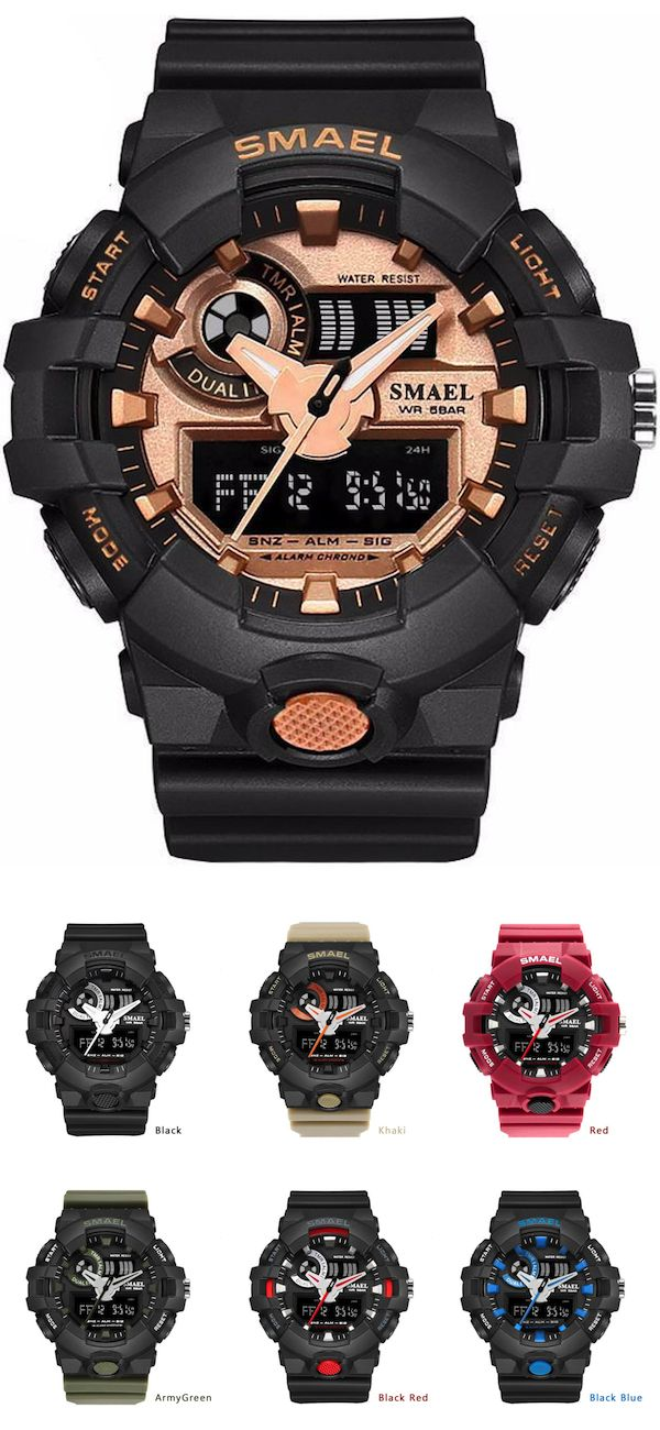 Analog and Digital Watch Mens Military Watch [ 8 Variation ] - 50% Off + Free worldwide shipping