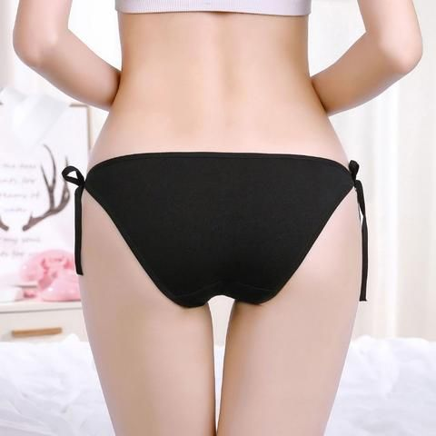 eea2296d768 Deruilady Cute Girl Panties Bandge Cotton Low Rise Underwear Women Cute  Printing Striped Panties Women Sexy Lingerie Brief Women