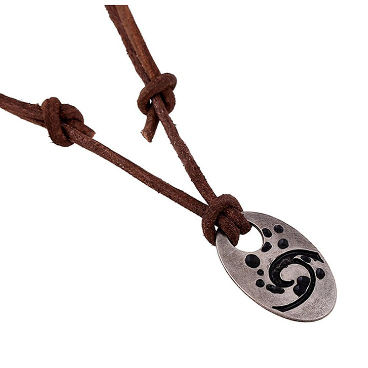 * Penny Deals * - SumBonum Jewelry Mens Womens Alloy Leather Adjustable Vintage Chain Necklace, Brown Black Silver -- Click image to review more details.