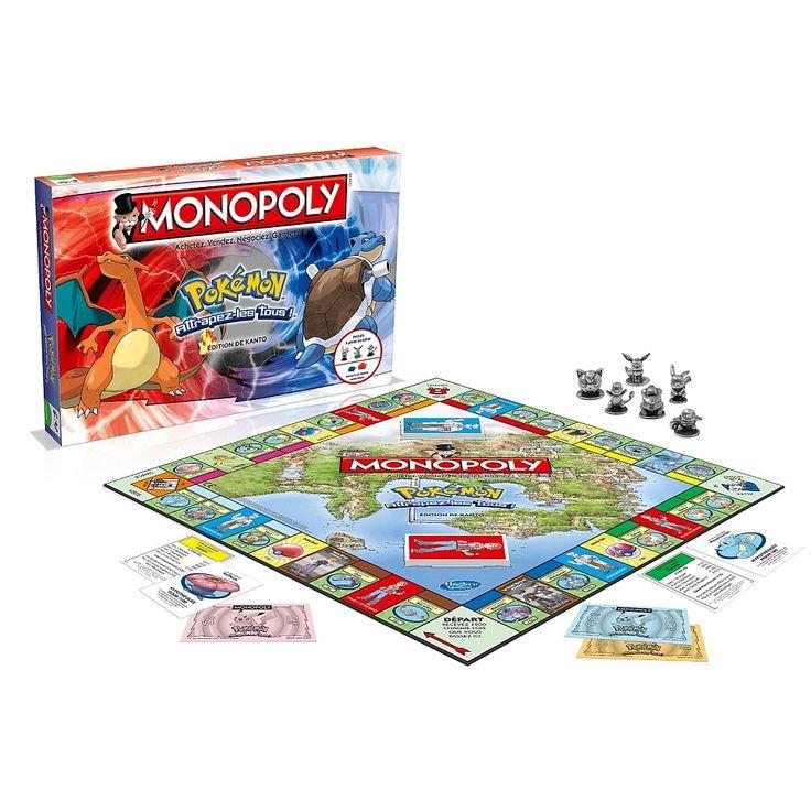 Retrouvez le très fameux jeu de société Monopoly en version Pokémon. Ce Monopoly Pokémon Winning Moves rassemblera toute la famille autour de ce jeu de table.<br>Les règles du jeu sont simples: Achetez le maximum de Pokémons et achetez la prestigieuse Arène Nidoking afin de devenir le maître des Pokémons. Il s'agit, pour votre enfant, d'une manière de partager son univers avec ses parents et le reste de la famille. Lorsque vous tirez les dés et qu'un double apparaît, servez...