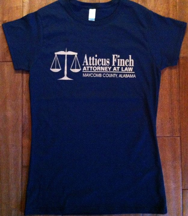 Or this tee from our favorite Maycomb lawyer. | 23 T-Shirts Only Book Nerds Will Appreciate