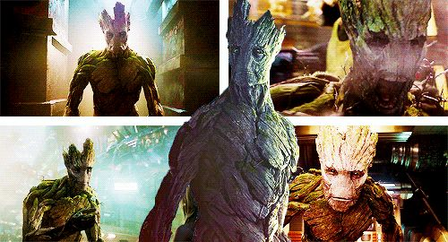 Groot's smile is one of the best part of that movie