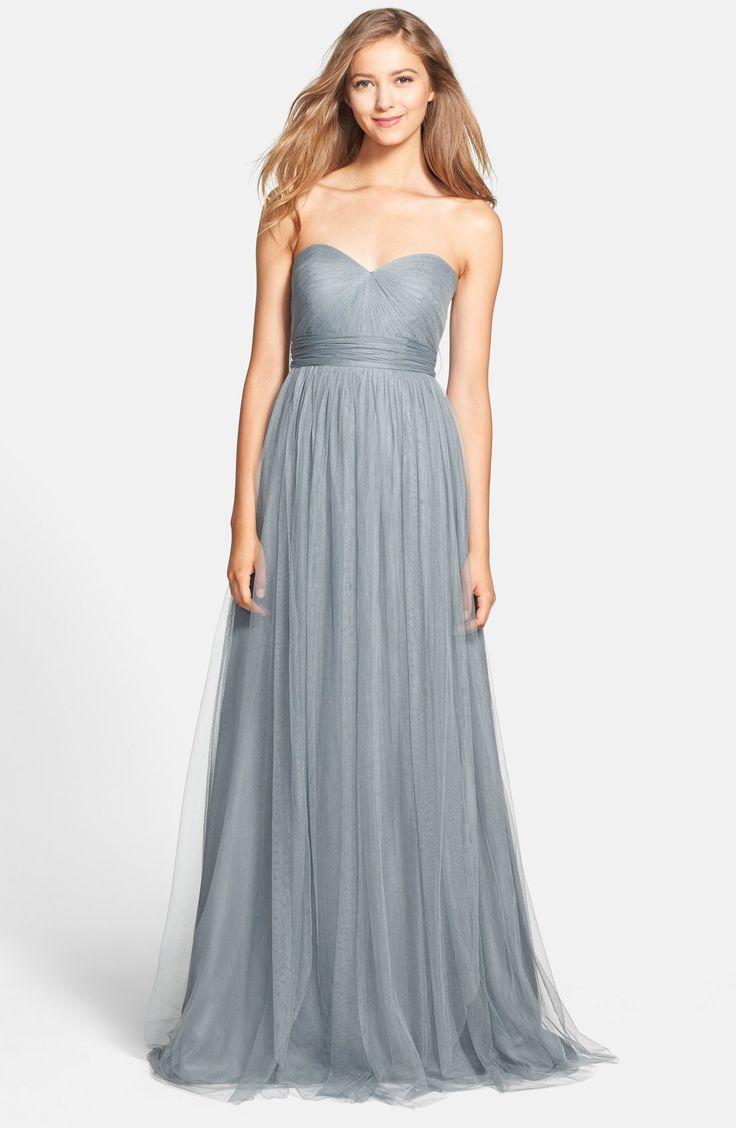 Jenny Yoo: Annabelle - Convertible Tulle Column Dress, Mayan Blue
