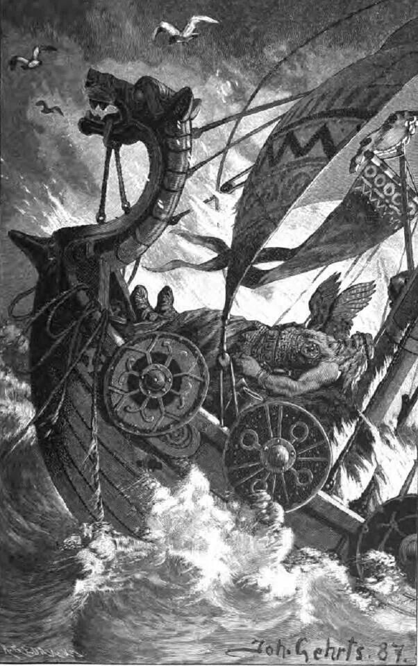 Victorian depiction of the vikings - Wagner publicized the myth of the horned helmets in his music and plays