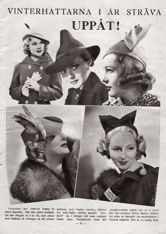 Kittens Klädkammare: Vintermode från 30-talet / Winter fashion from the 30's