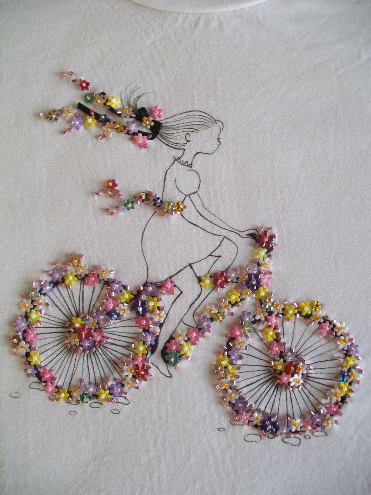 Bead embroidery on tees