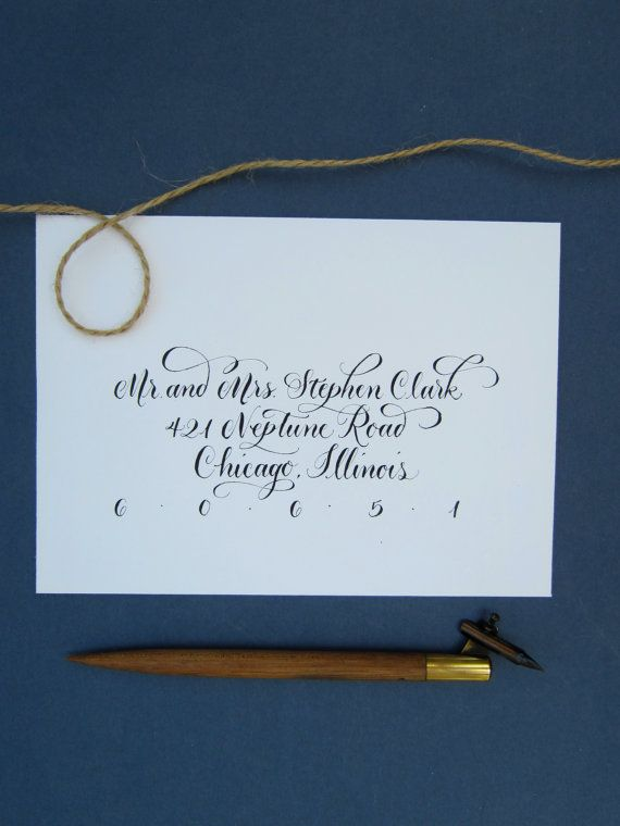 Hand Calligraphy Envelope Addressing Style by AngeliqueInk