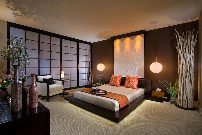 Bedrooms inspired by Japanese decor