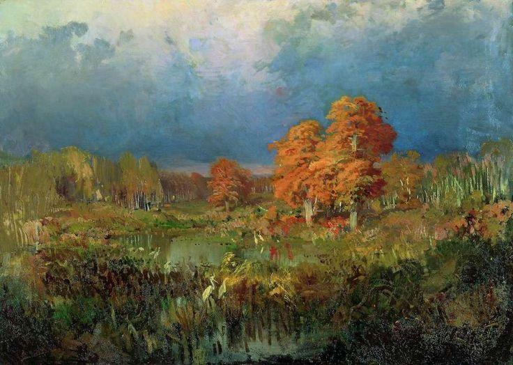 Болото в лесу. Осень - Васильев Федор Александрович
