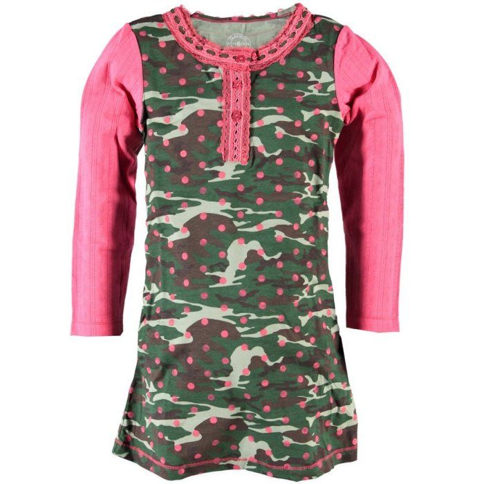 Claesen's Winter 15Product Claesen's Girls Army Dots DressProduct code W15CL128927.S.AD
