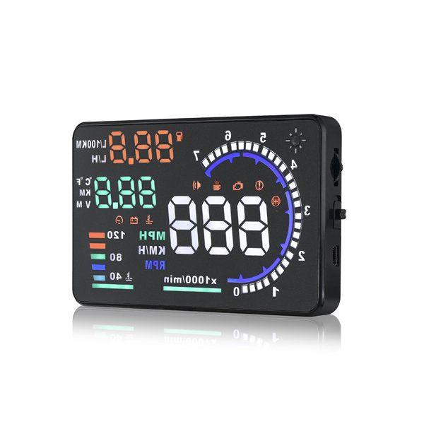 A8 5.5inch Car HUD Head Up Display with OBD2 Interface Plug Sale - Banggood.com