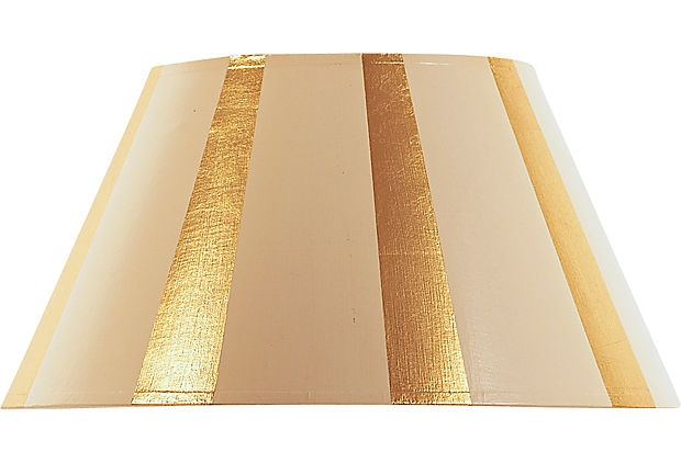 Ivory & Gold Striped Shade