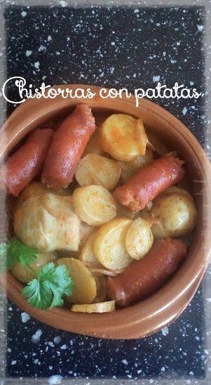 Chistorras con patatas y alcachofas