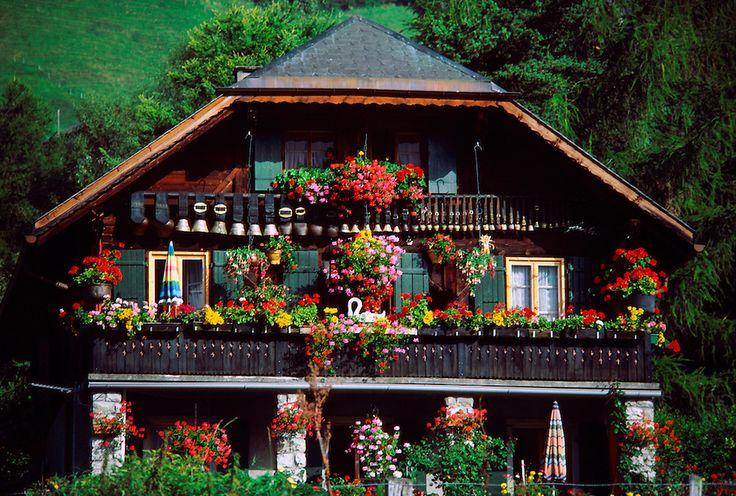 Swiss chalet, Chateau dOex, Switzerland