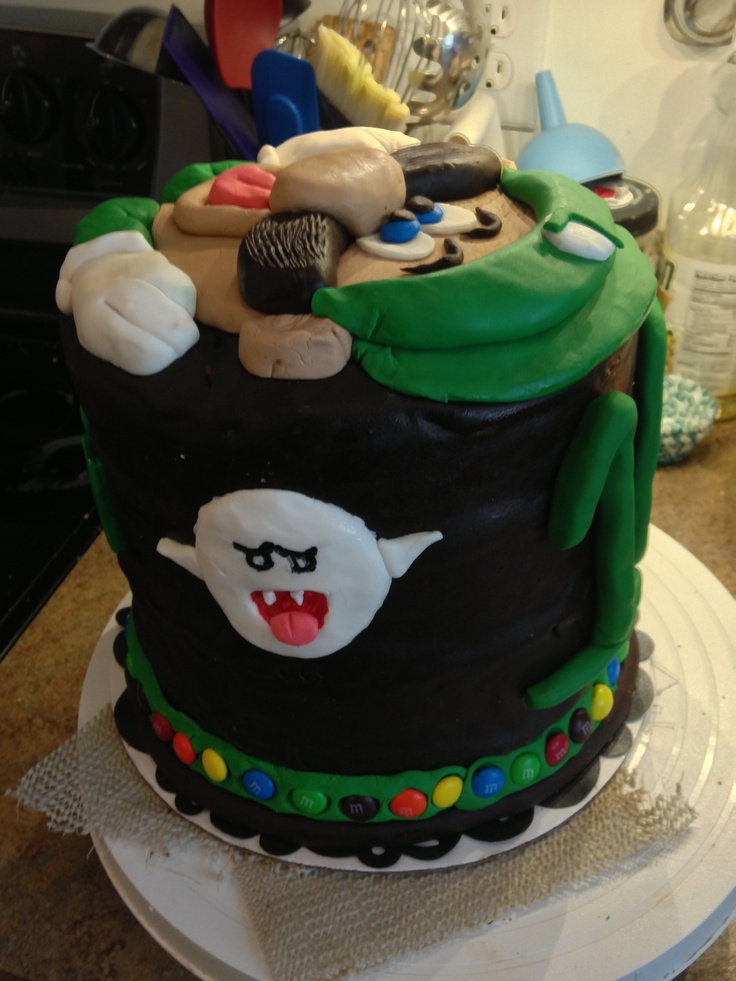 Luigi Mansion Cake Private Mario Birthday Party