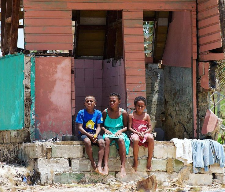 Fiji has been all but flattened by cyclone Winston. Here a photo by @fijilyndy of kids in Nukubalavu village where only a couple of houses were left standing. This is devastating. I have photographed and drawn kids from many remote villages across Fijian islands and there is no way for me to find out if they are safe or if they still have a home. If you want to help @oxfaminternational is providing relief to locals and @fijilyndy is helping organize efforts in the Savusavu area. #fiji…