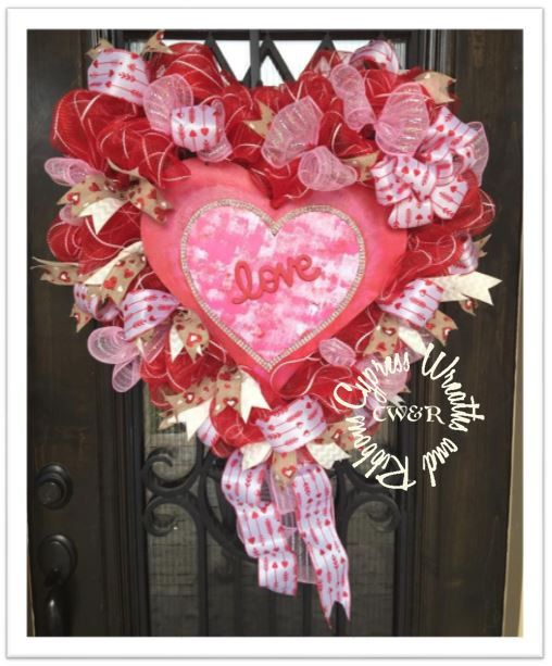In Stock $99.99  Heart Shaped Valentine's Day Wreath