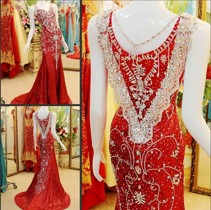 Wholesale 2014 Prom Dress - Buy 2014 Sexy Formal Evening Maxi Dresses Uk Real-image Sweetheart Mermaid Sweep Train Luxury Crystal Beads Vintage Sequins Prom Dress By Olesa, $233.88 | DHgate