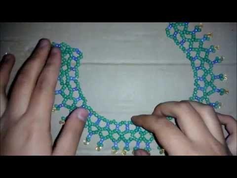 gargantilla de cristales - Bisuteria Fina (tutorial paso a paso) - YouTube
