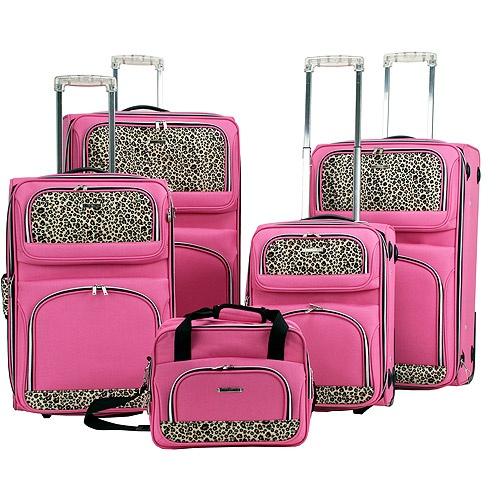 Kiama's pretty pink luggage