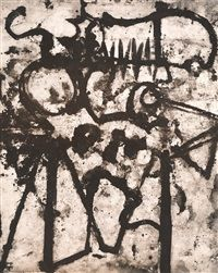 Untitled Abstraction (Graffiti) by Aaron Siskind