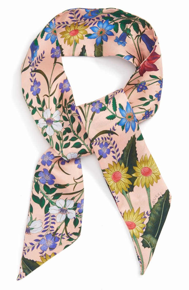 Main Image - Gucci New Flora Skinny Scarf