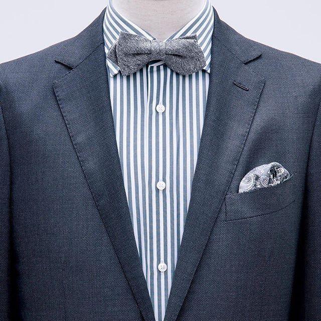 珍しく蝶ネクタイのコーディネイト。蝶ネクタイはウィングシャツのみと思いますが通常のワイドカラーにも合います。 http://www.do-company.co.jp オーダースーツ専門店DoCompany  #今日のコーディネート #今日のコーデ #メンズ #スーツ姿 #コーディネイト #スーツスタイル #スーツコーデ #メンズアパレル #メンズファッション #オーダースーツ #ファッションコーデ #ドゥ・カンパニー