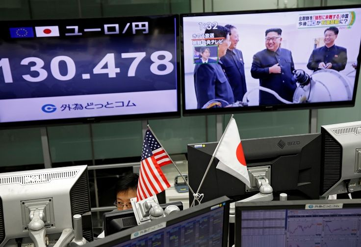 Stocks fall as Korea tensions flare; dollar drops - Malay Mail Online