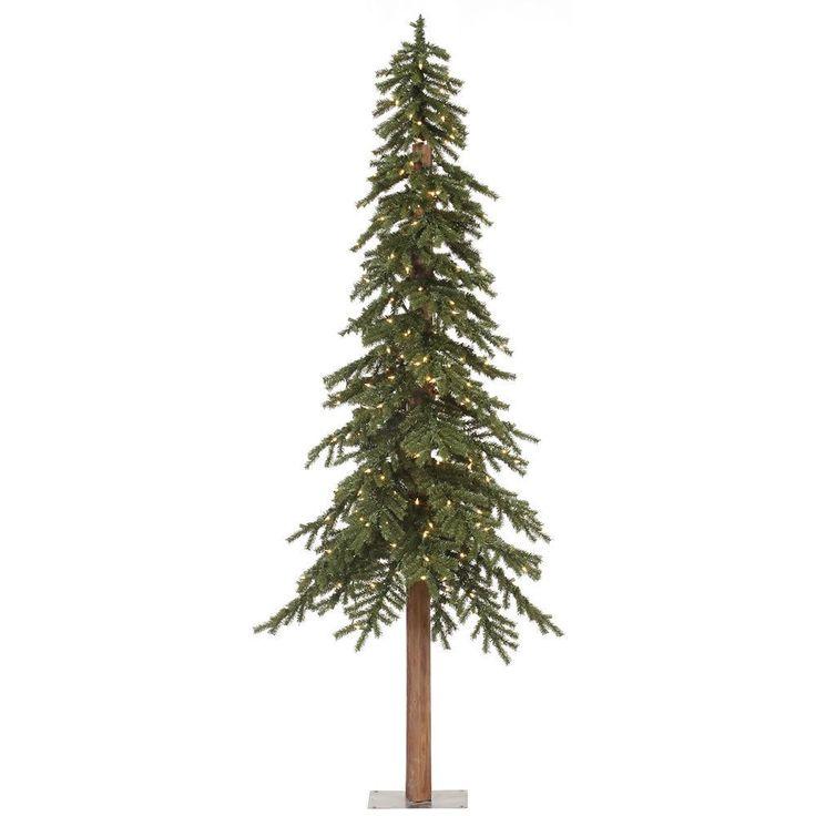 Vickerman 8-foot 1221-tip Natural Alpine Tree with 400 Clear Lights (8' x 50 Natural Alpine Tree 1221T 400CL), Green (Plastic)