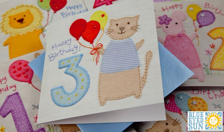 Childrens Age Cards by Blue Eyed Sun