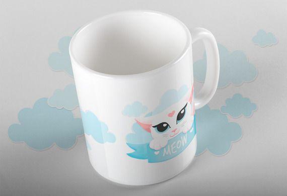 Mug impression panoramique Meow